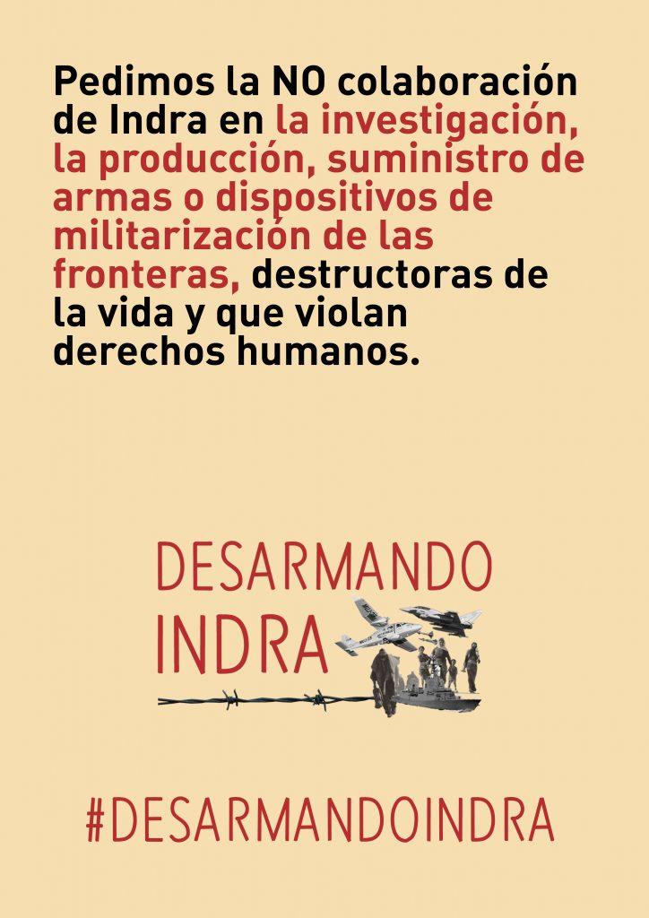 campaña #DesarmandoIndra